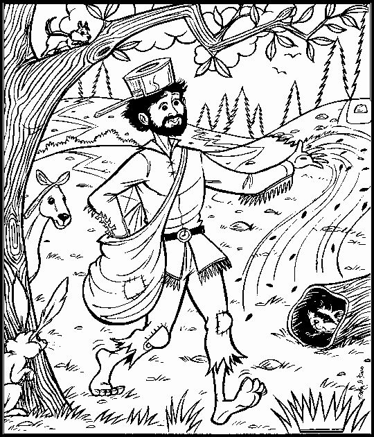 coloring johnny appleseed clip art 28 johnny appleseed coloring page in 2020 johnny coloring appleseed johnny clip art
