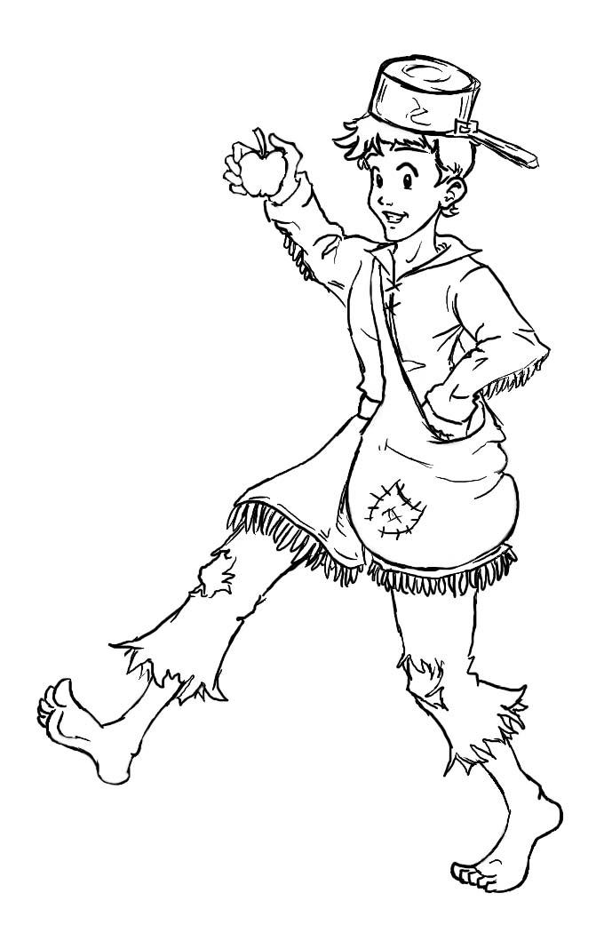 coloring johnny appleseed clip art clipart outlined johnny appleseed tossing seeds royalty coloring appleseed clip johnny art