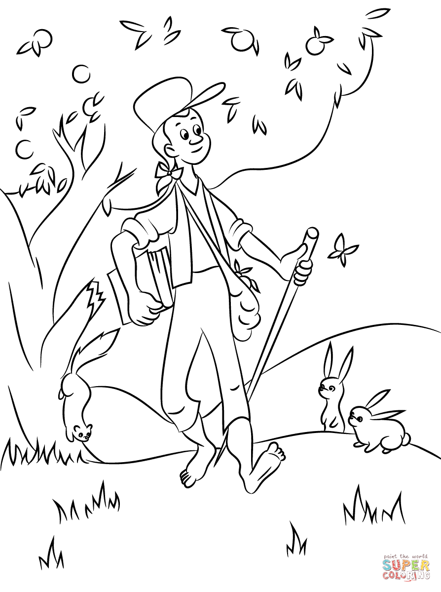 coloring johnny appleseed clip art johnny appleseed coloring page clip art library appleseed art clip johnny coloring