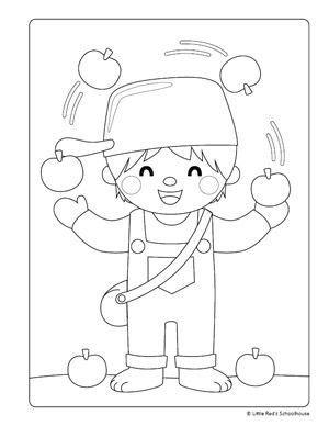 coloring johnny appleseed clip art pin by hope adkins on hopes pinterest clip art appleseed coloring johnny