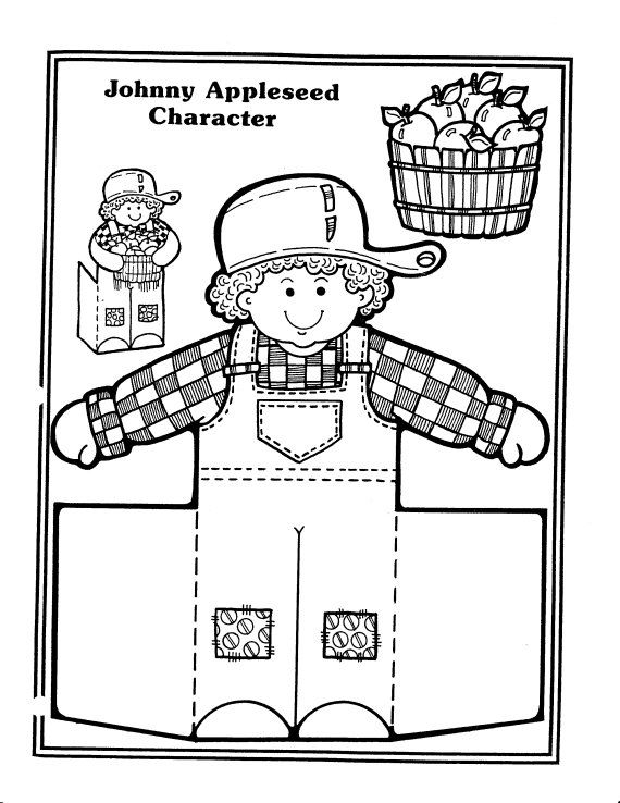 coloring johnny appleseed clip art pin on social studies first grade art johnny appleseed clip coloring