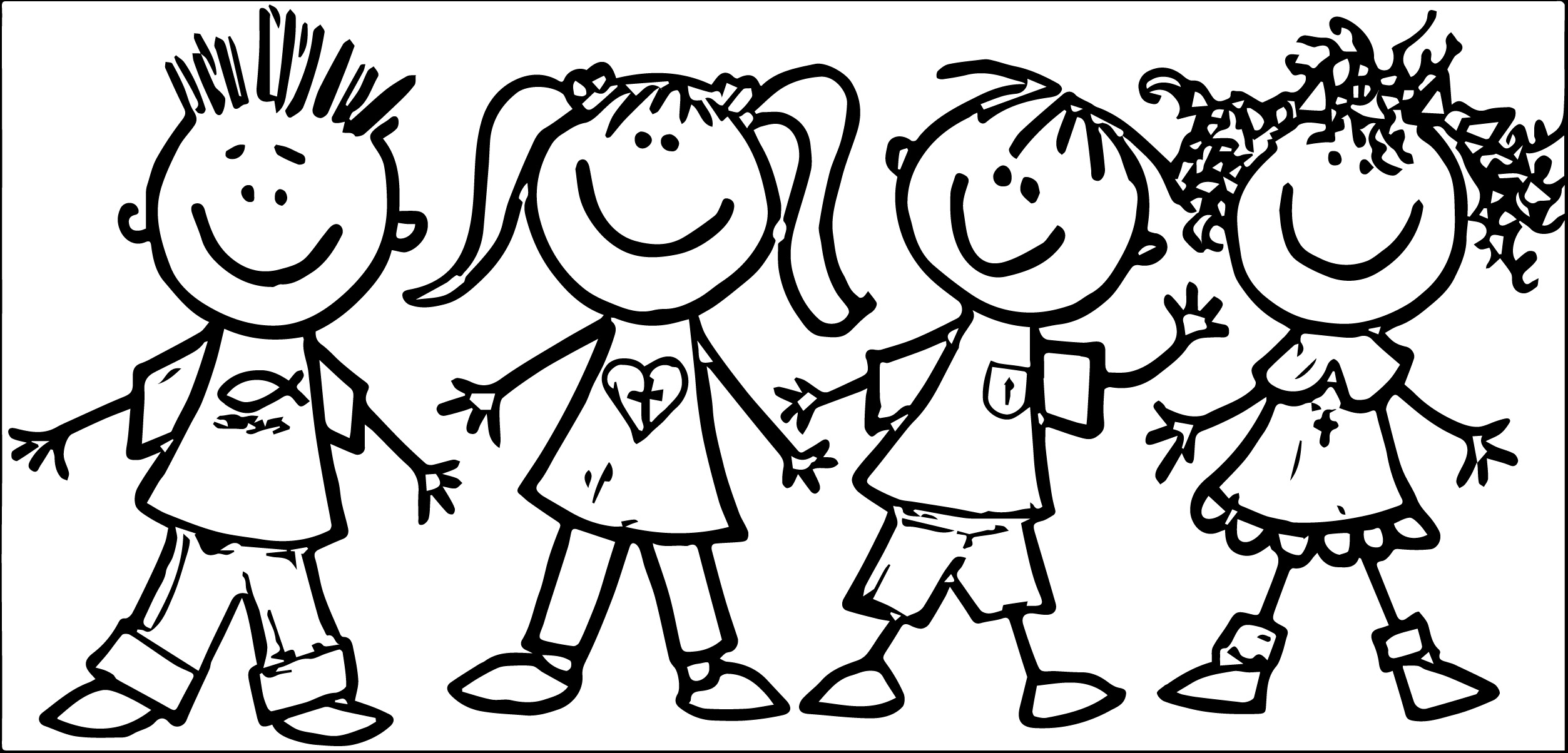 coloring kids clipart free kids helping each other coloring page download free clipart kids coloring