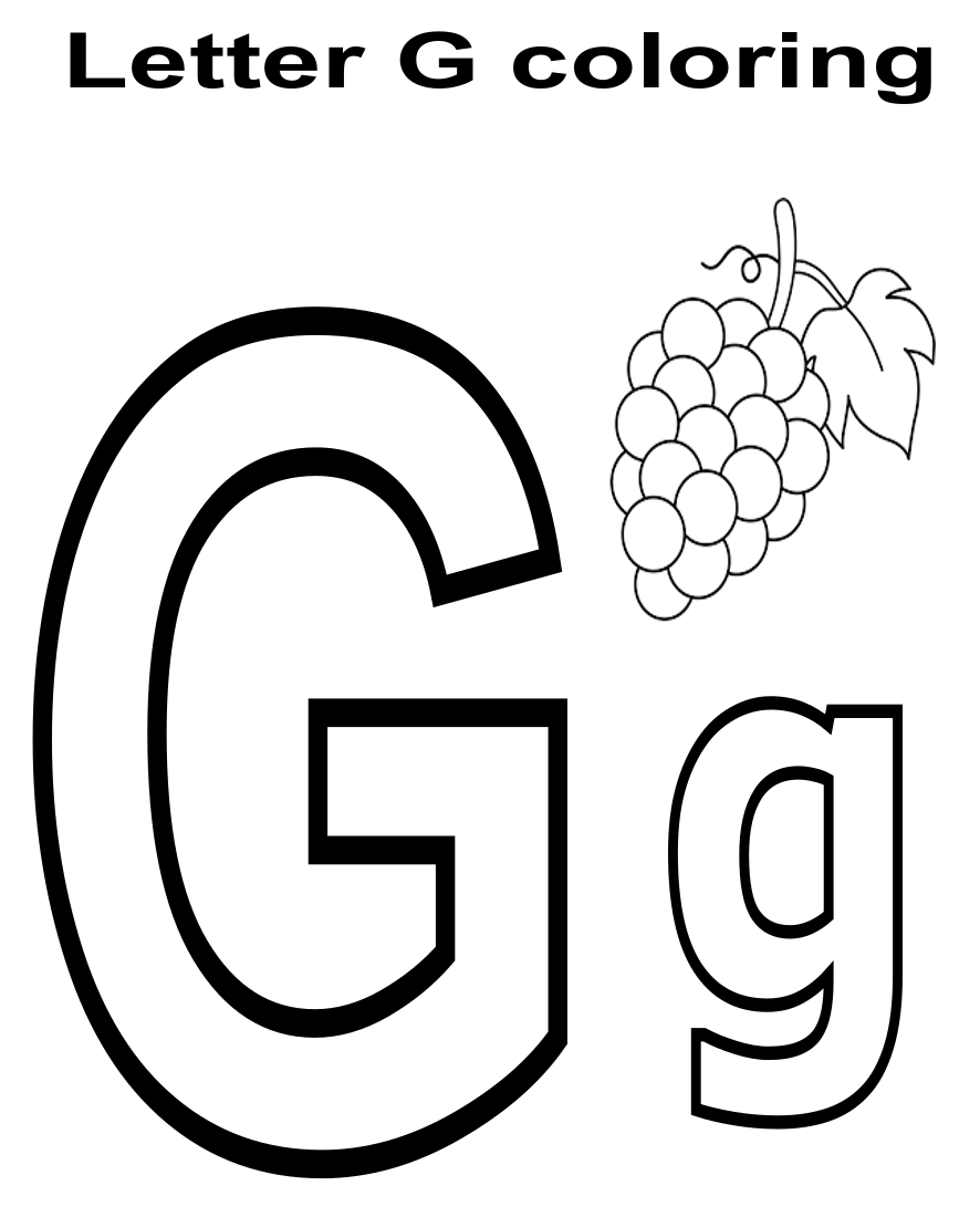 coloring letter g letter g coloring pages coloring home coloring letter g