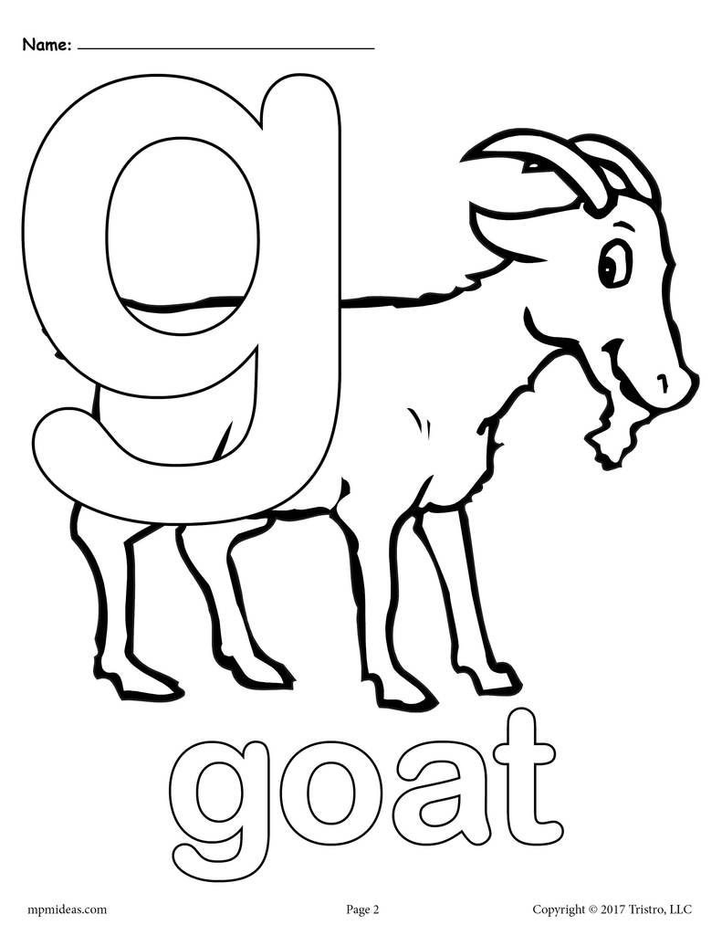 coloring letter g letter g is for goat coloring page free printable coloring letter g