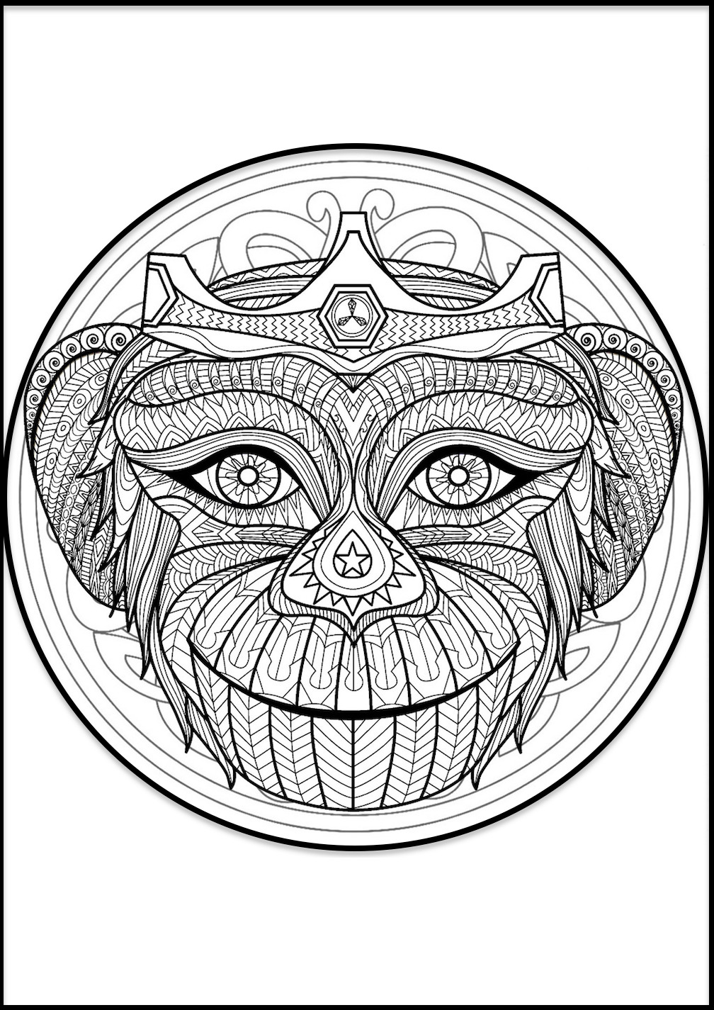 coloring mandala free clipart of a black and white adult coloring page mandala coloring