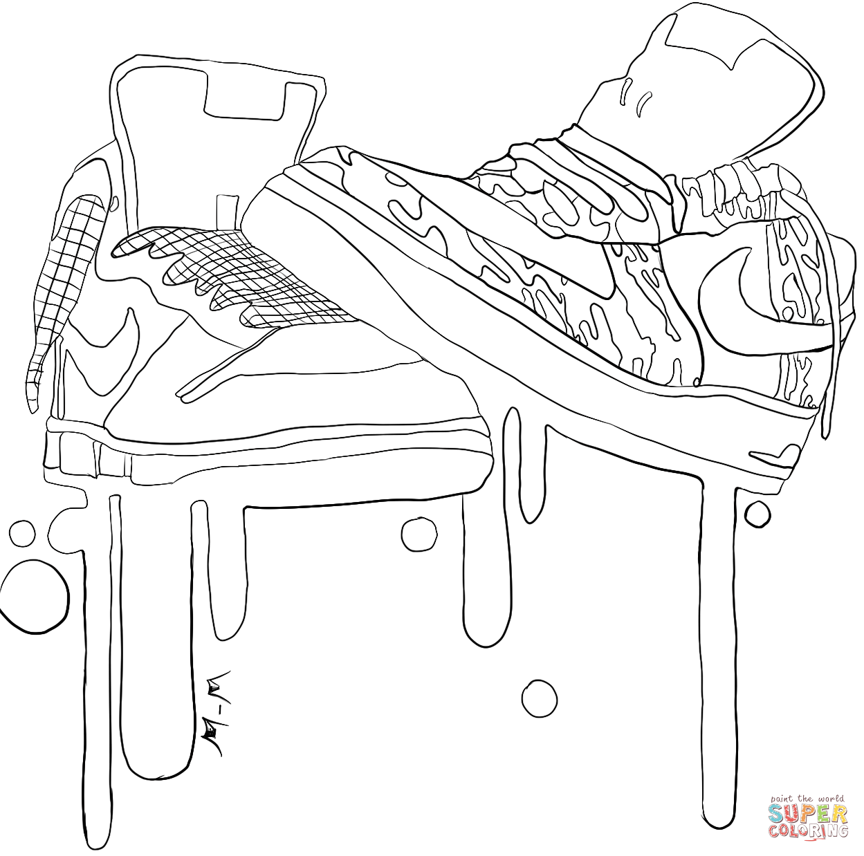 coloring nike shoes coloring nike shoes shoes nike coloring
