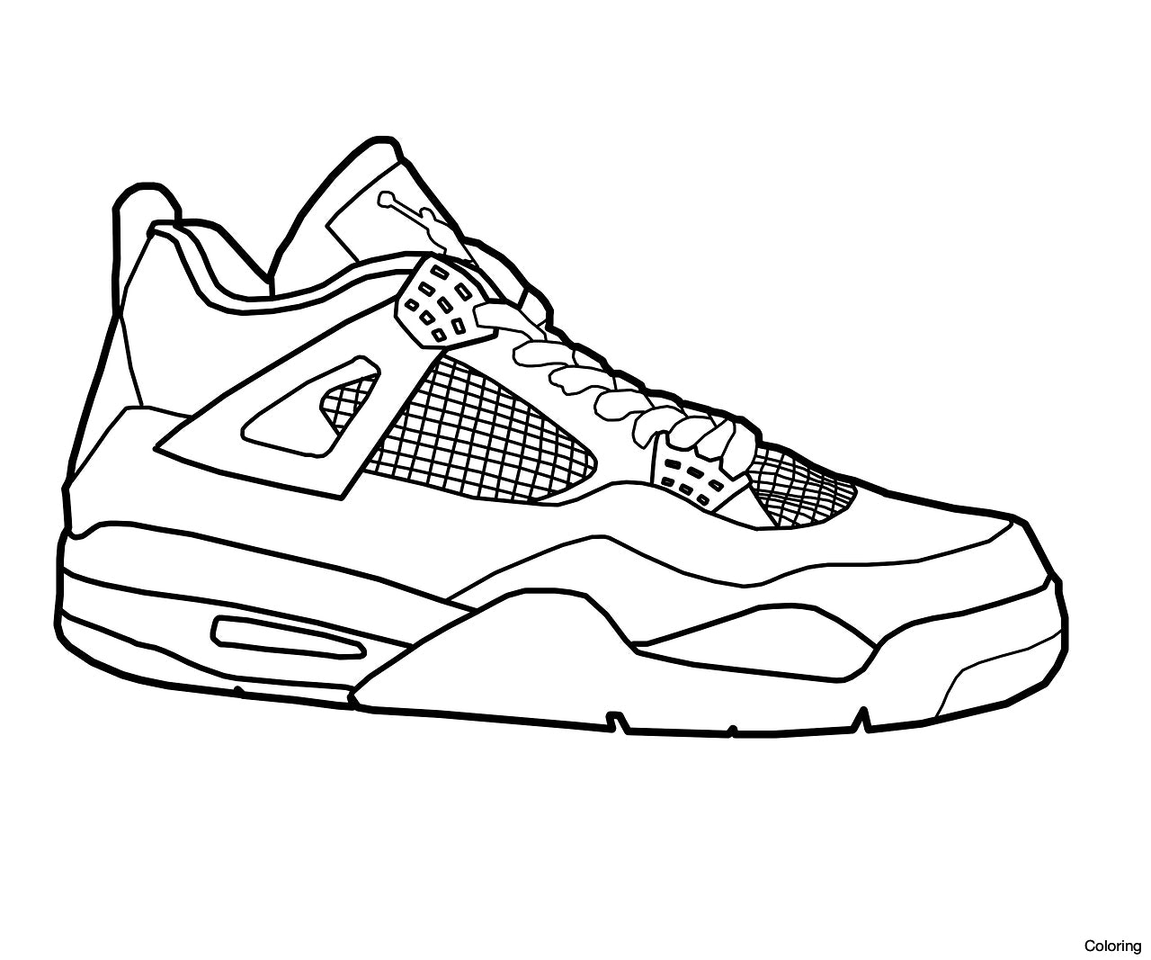 coloring nike shoes coloring pages of nike shoes Сoloring pages for all ages shoes coloring nike