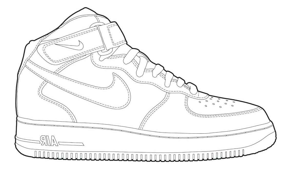 coloring nike shoes jordan drawing shoes at getdrawings free download shoes nike coloring