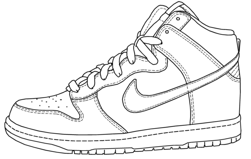 coloring nike shoes nike coloring pages coloring home coloring nike shoes