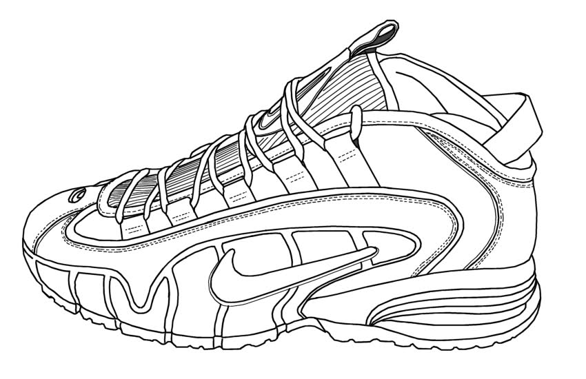 coloring nike shoes nike coloring pages coloring home shoes coloring nike 1 1