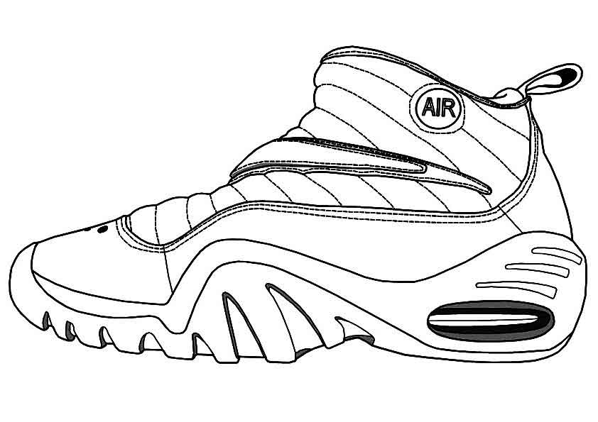 coloring nike shoes nike coloring pages gorgeous nike color pages printable in nike shoes coloring