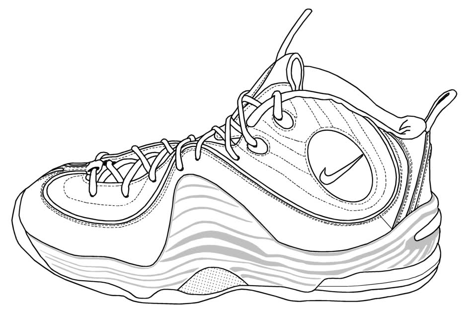 coloring nike shoes nike jordan sneakers coloring page free printable nike shoes coloring