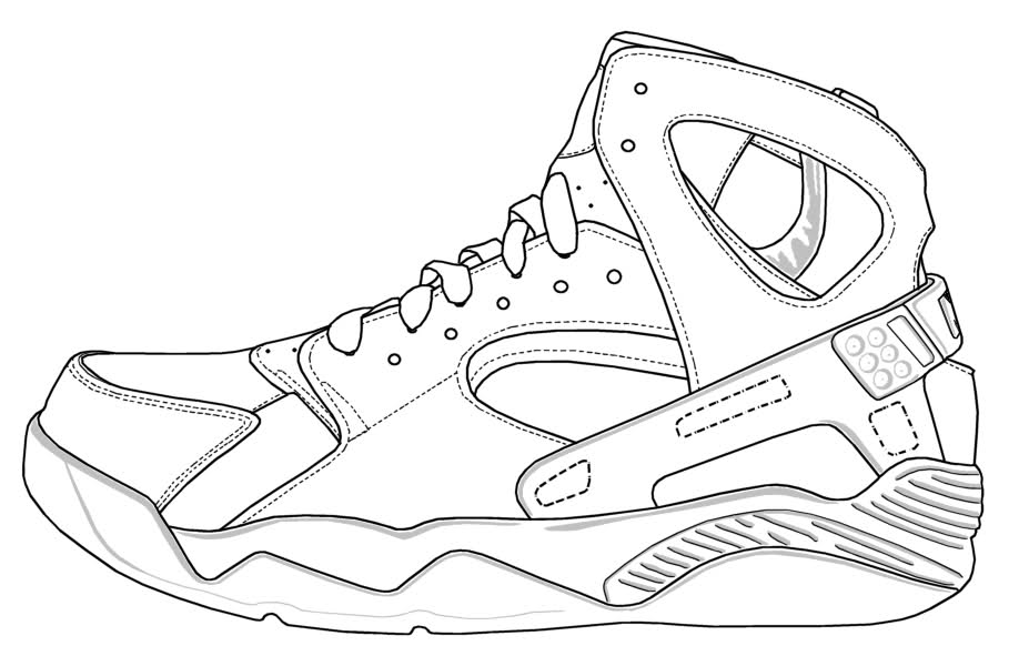 coloring nike shoes nike shoes coloring page kids coloring page fashion39s nike coloring shoes
