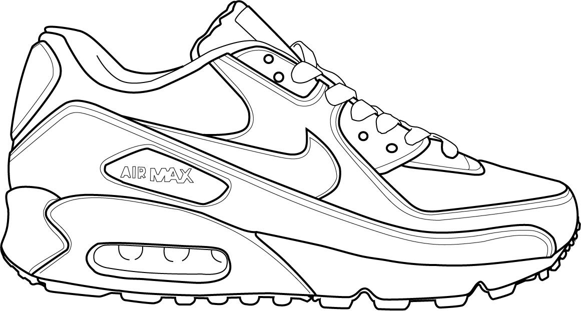 coloring nike shoes nike sneakers drawing at getdrawings free download shoes nike coloring