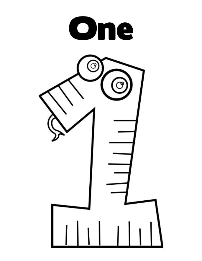 coloring number one coloring pages numbers 1 quotonequot coloring one number