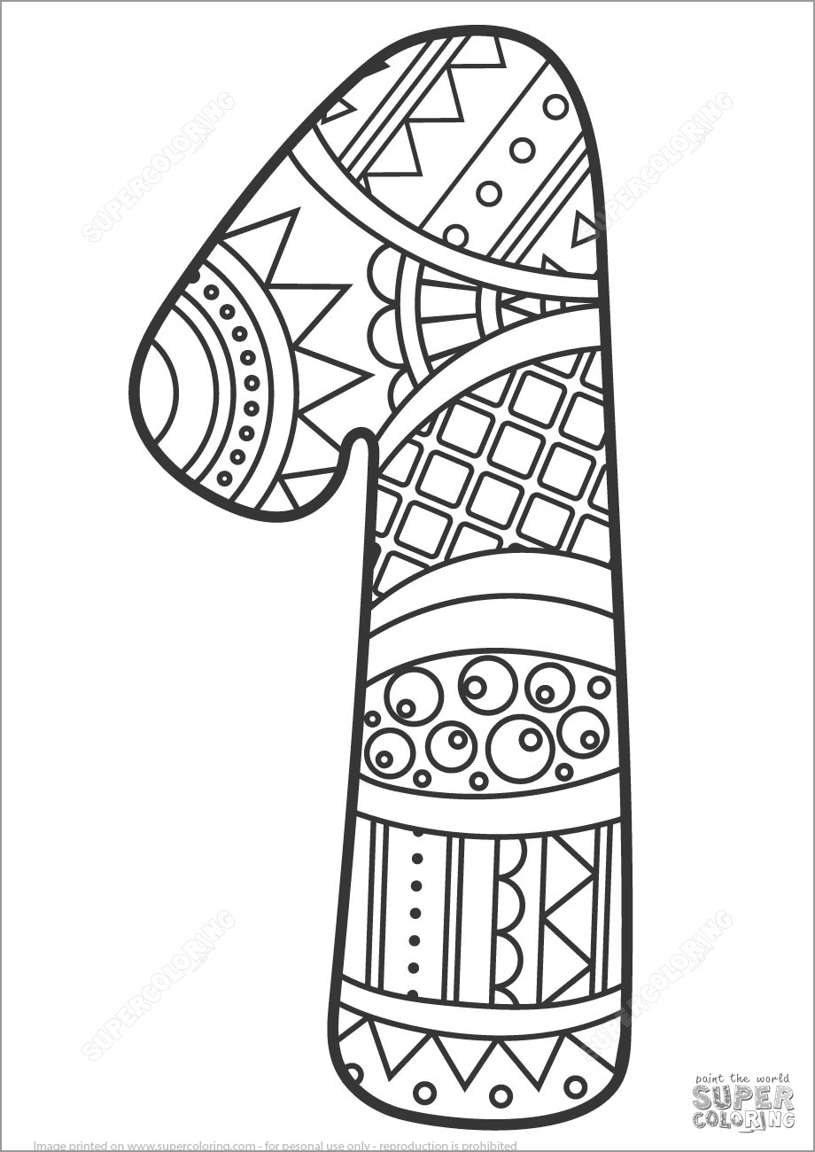 coloring number one number 1 coloring pages coloringbay one number coloring