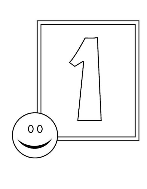 coloring number one number one smile face coloring page netart coloring one number