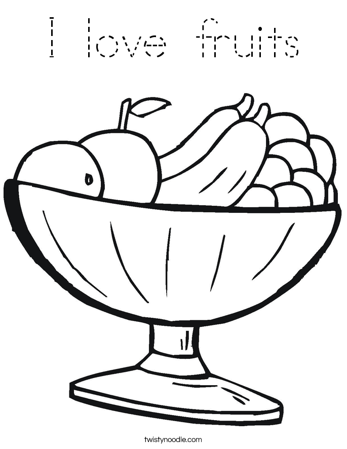 coloring outline fruits color the fruit coloring page tracing twisty noodle fruits coloring outline