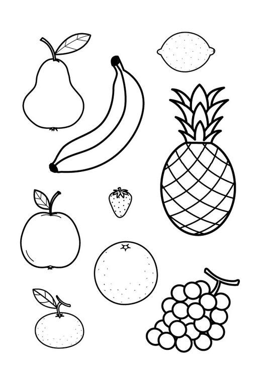 coloring outline fruits free coloring pages fruit coloring home fruits coloring outline