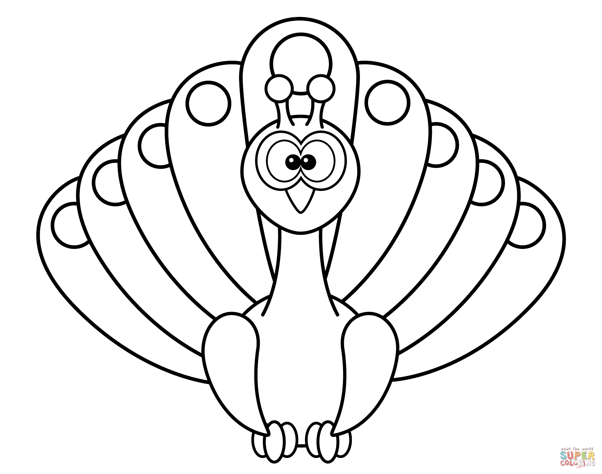 coloring outline image of peacock peacock black and white drawing at getdrawings free download outline of peacock image coloring