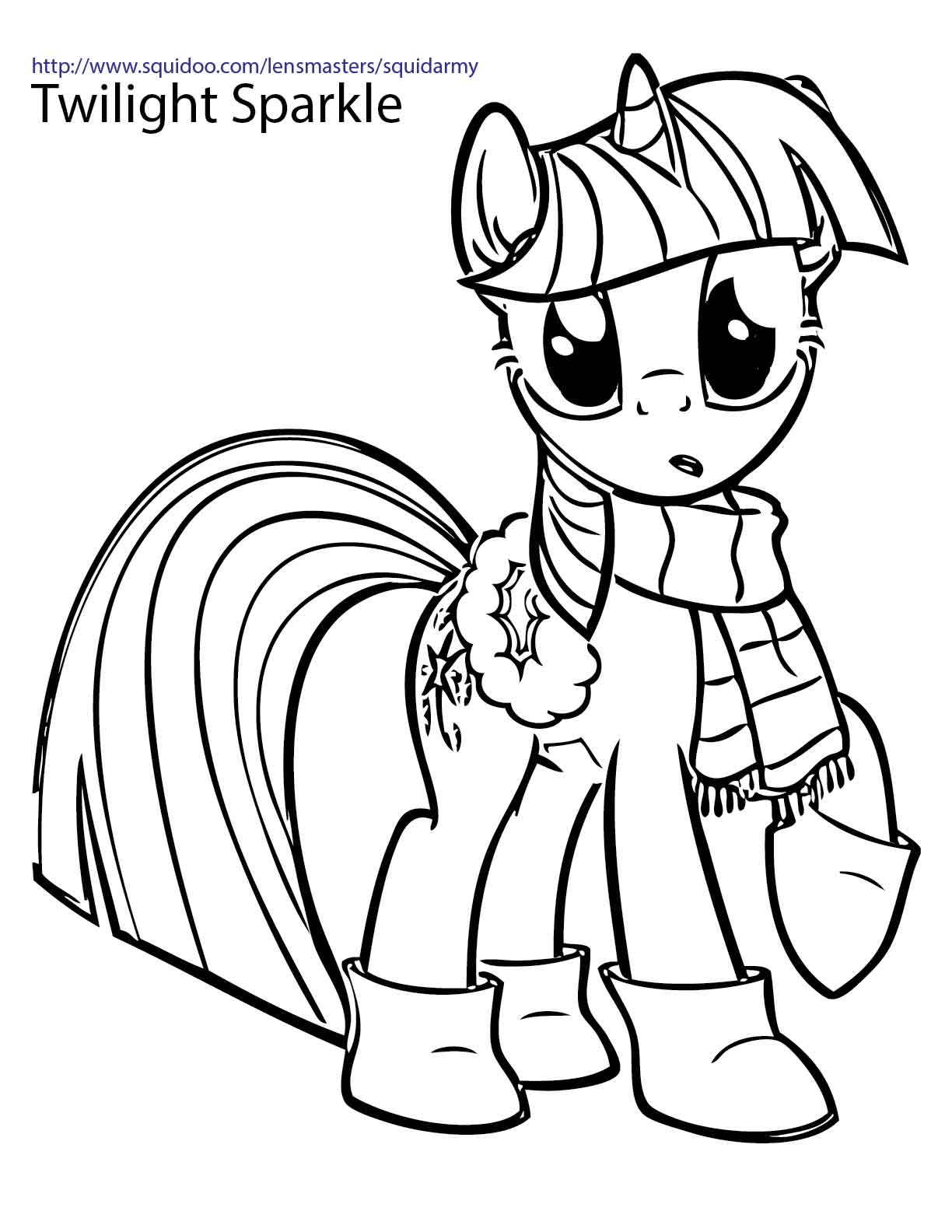 coloring page my little pony my little pony coloring pages squid army little pony my coloring page