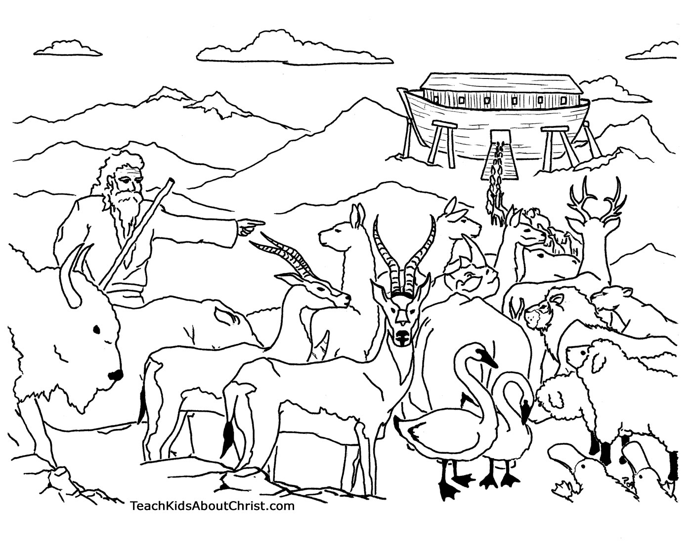 coloring page noahs ark noah and the ark coloring page page coloring noahs ark