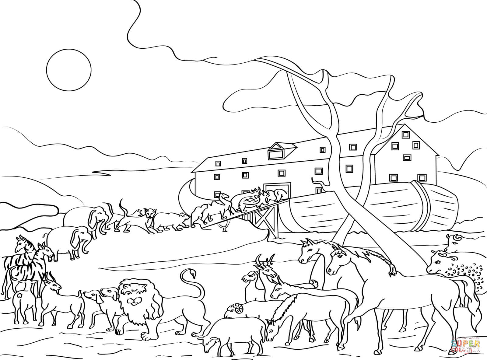 coloring page noahs ark noah ark coloring pages to download and print for free page ark noahs coloring