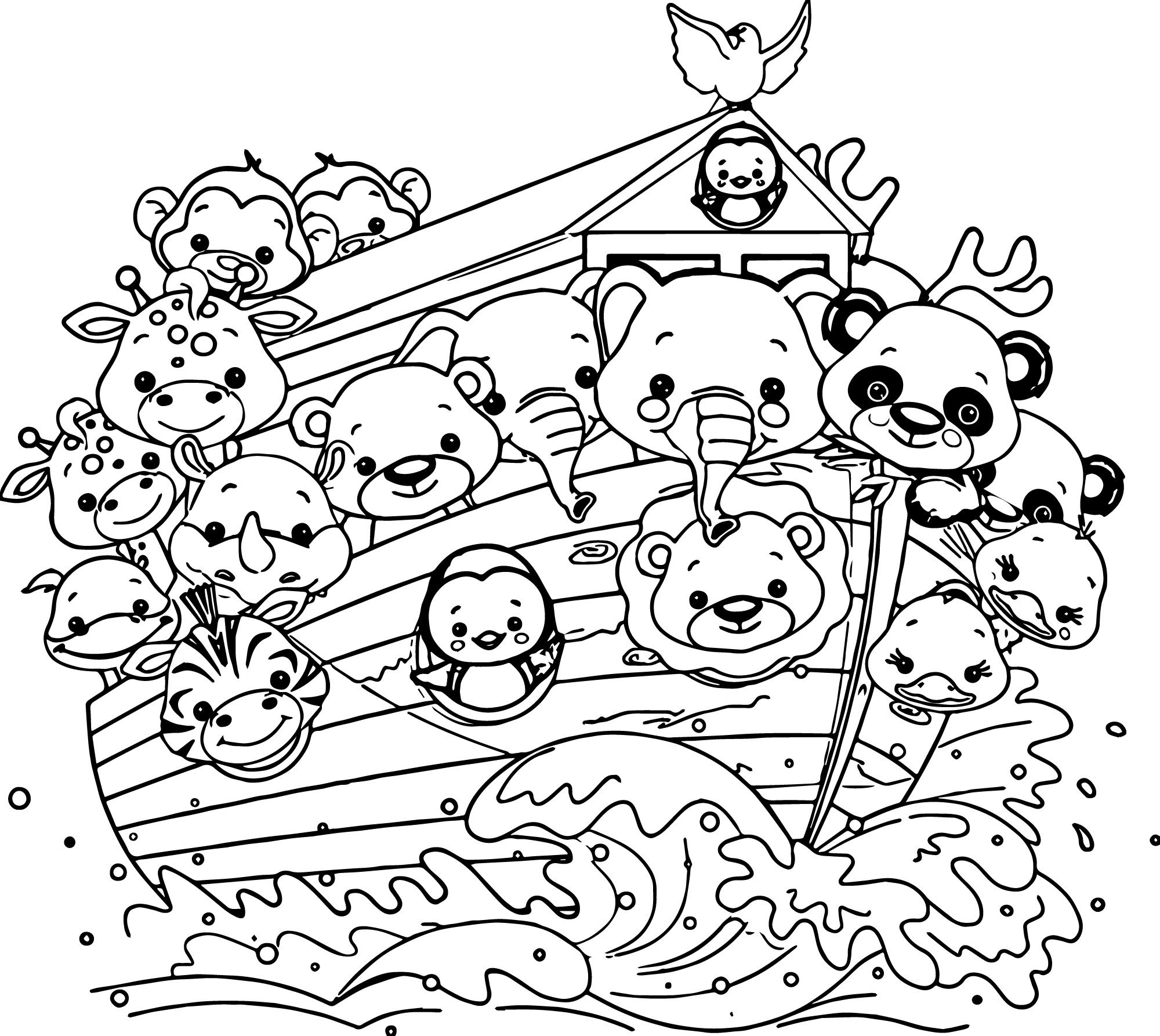 coloring page noahs ark noah png black and white transparent noah black and white noahs coloring ark page