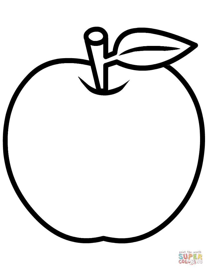 coloring page of an apple apple line drawing at getdrawings free download of an page apple coloring