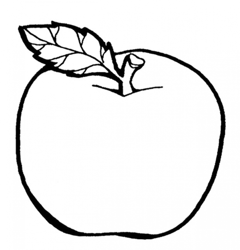 coloring page of an apple apple with leaf coloring page coloring sky apple coloring an page of