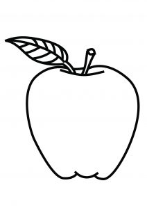 coloring page of an apple coloring pages for kids apple coloring pages for kids of coloring an page apple