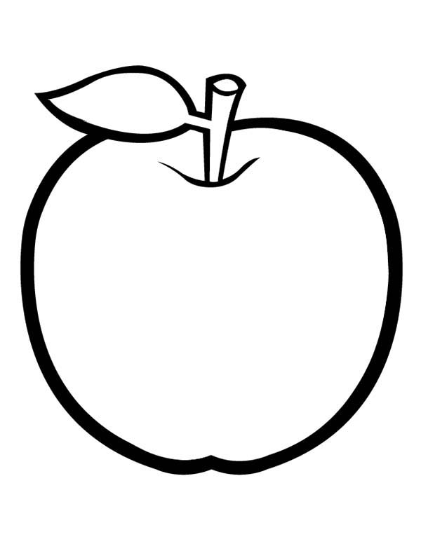 coloring page of an apple free printable apple coloring pages for kids an apple coloring of page