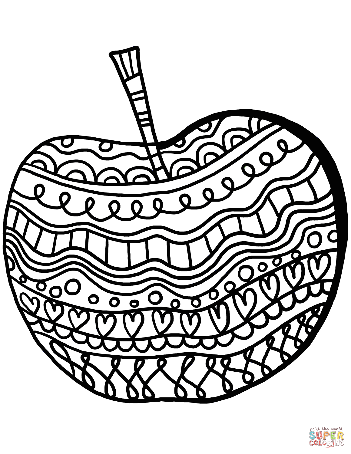 coloring page of an apple get this free apple coloring pages to print 6pyax coloring an apple of page