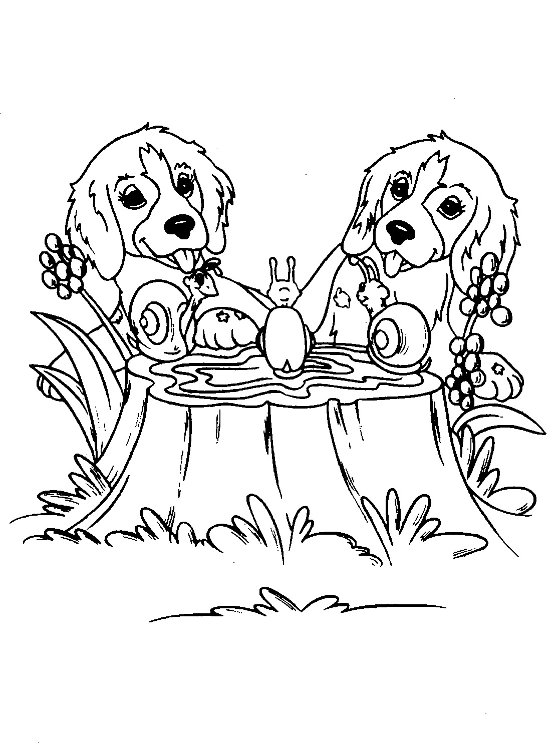 coloring page puppy free printable puppies coloring pages for kids coloring page puppy 1 1