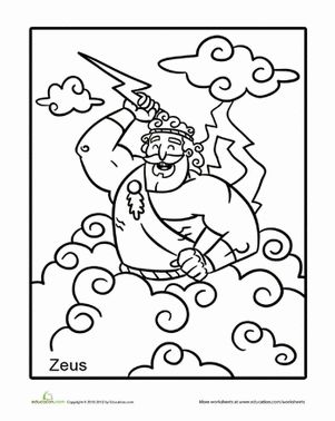 coloring page zeus zeus coloring page at getcoloringscom free printable page coloring zeus