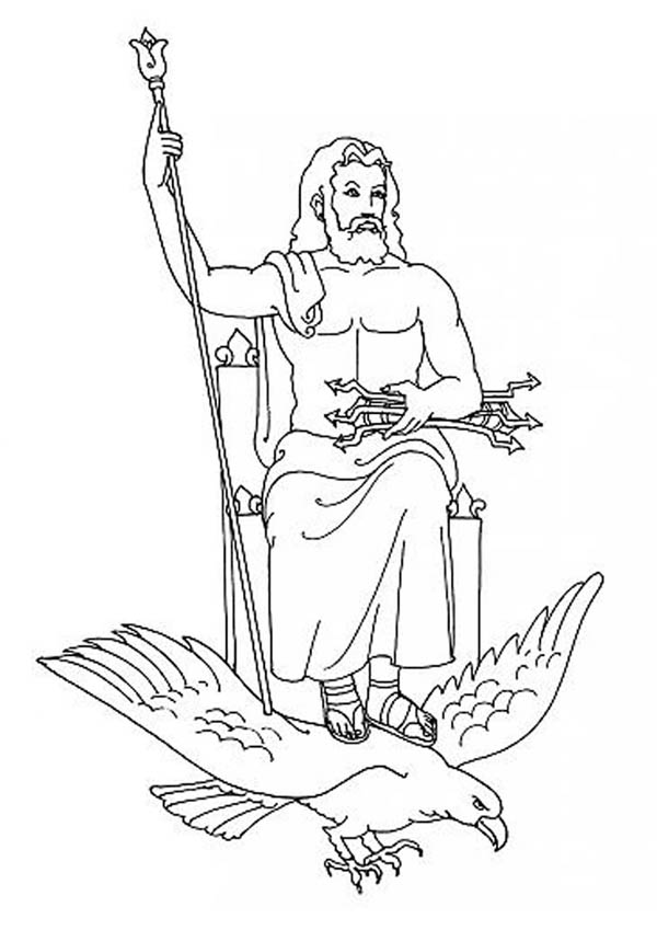 coloring page zeus zeus greek god coloring pages 12 ΘΕΟΙ ΓΕΝΙΚΑ ΕΙΚΟΝΕΣ page zeus coloring