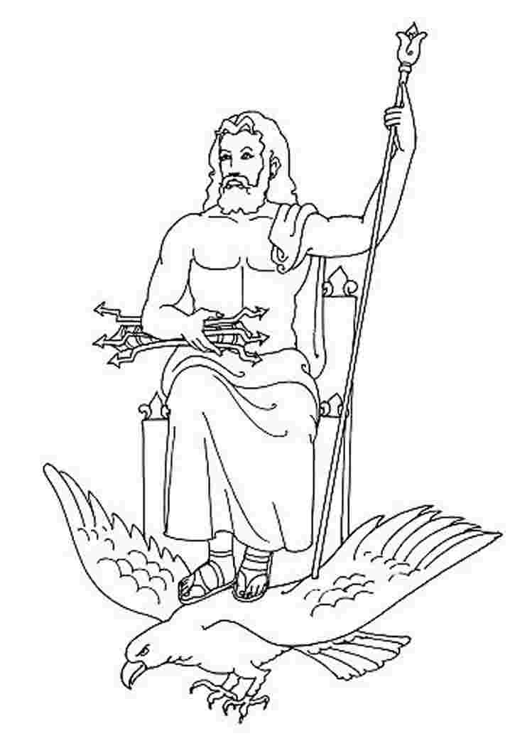 coloring page zeus zeus greek god drawing at getdrawings free download coloring zeus page
