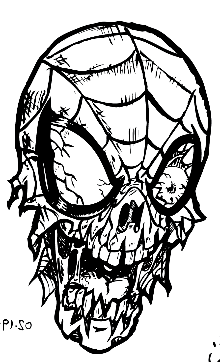 coloring page zombie scary zombie coloring pages coloring home page coloring zombie