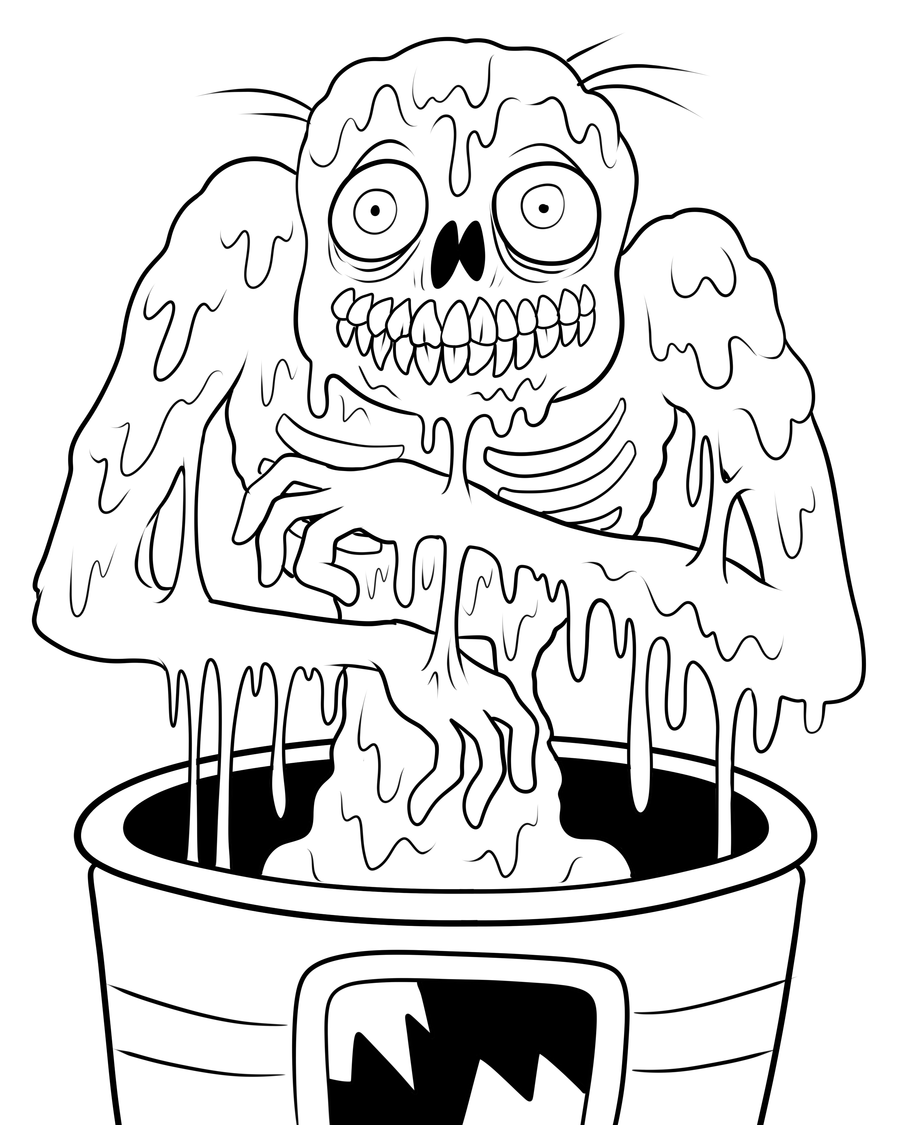 coloring page zombie zombie coloring page woman zombie zombie coloring page