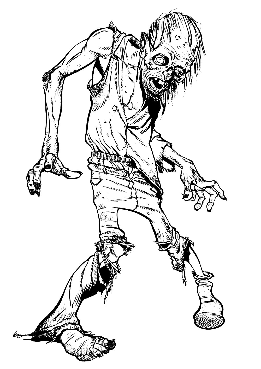 coloring page zombie zombie printable coloring pages coloring home coloring zombie page