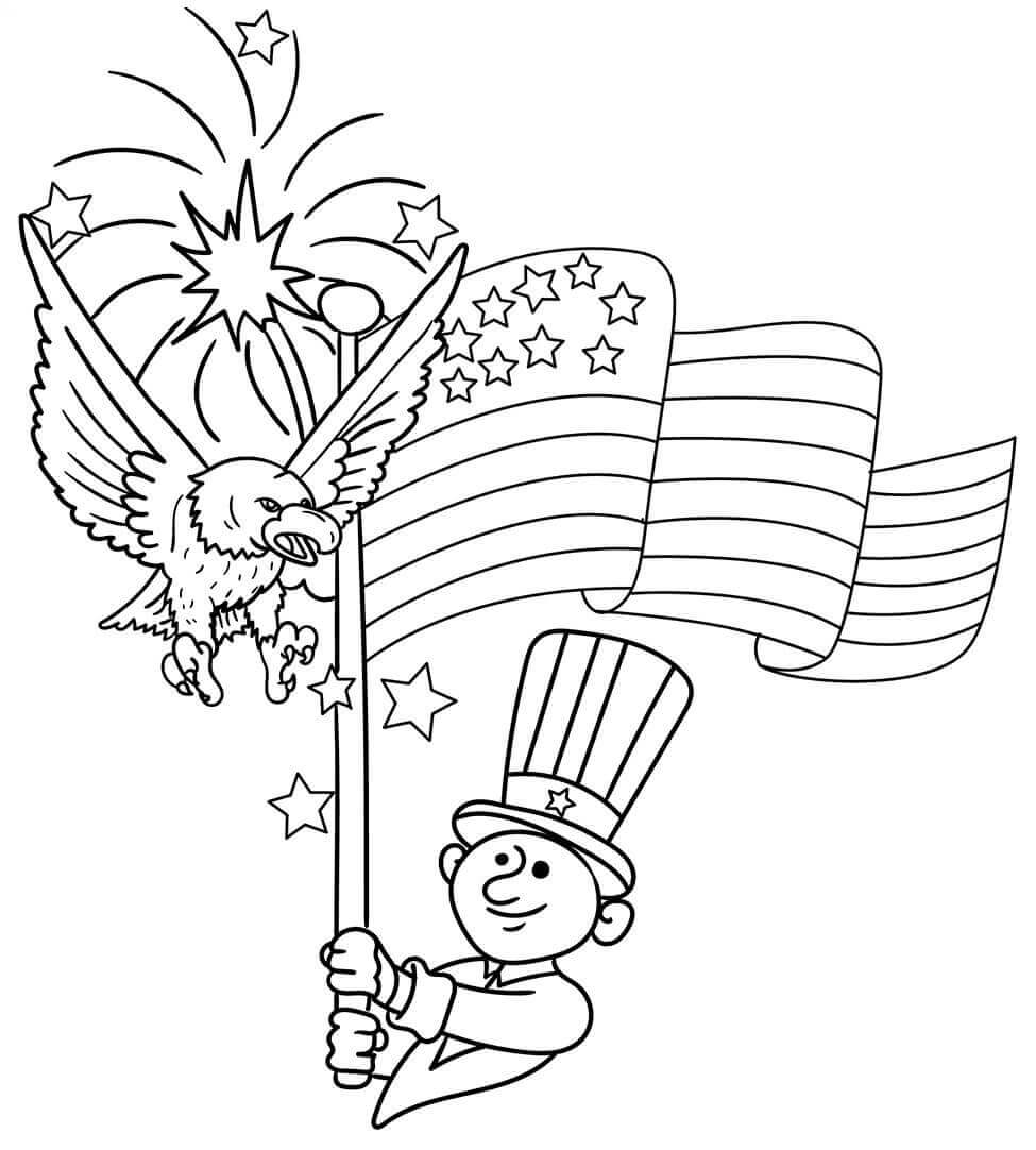 coloring pages 4th of july hurrah independence 4th july postcard coloring page 4th pages july of coloring