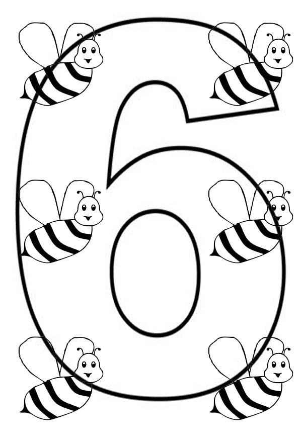 coloring pages 6 fileclassic alphabet numbers 6 at coloring pages for kids 6 pages coloring