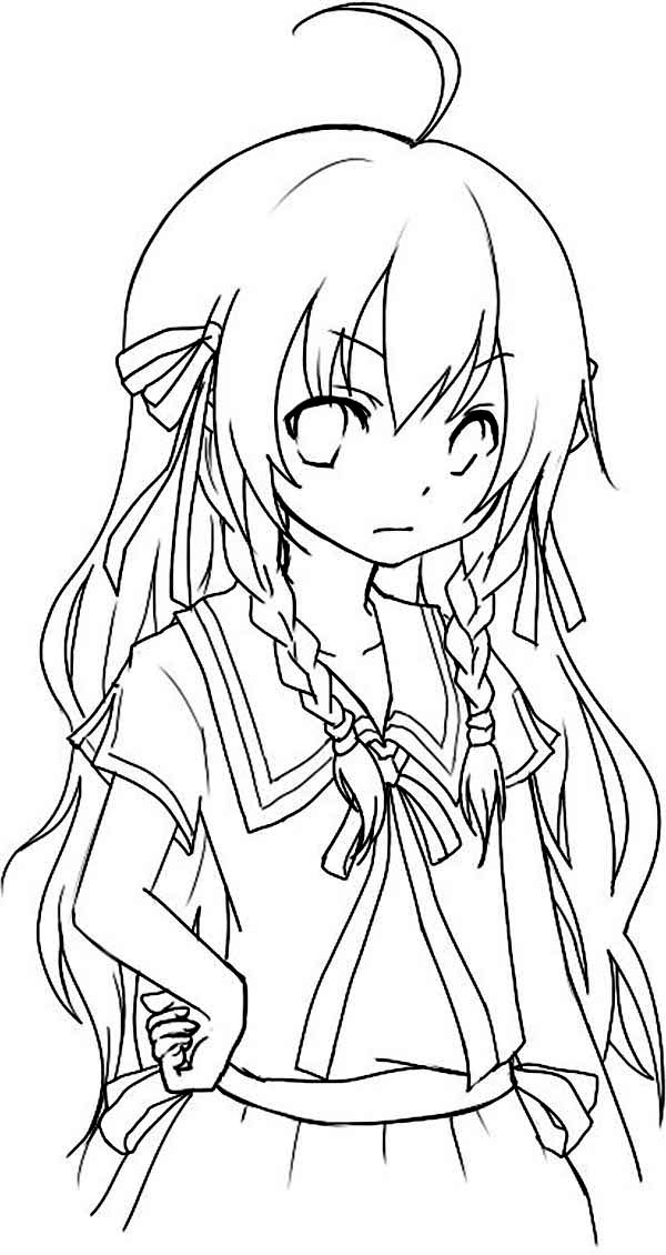 coloring pages anime free anime girl coloring page free printable coloring anime coloring pages