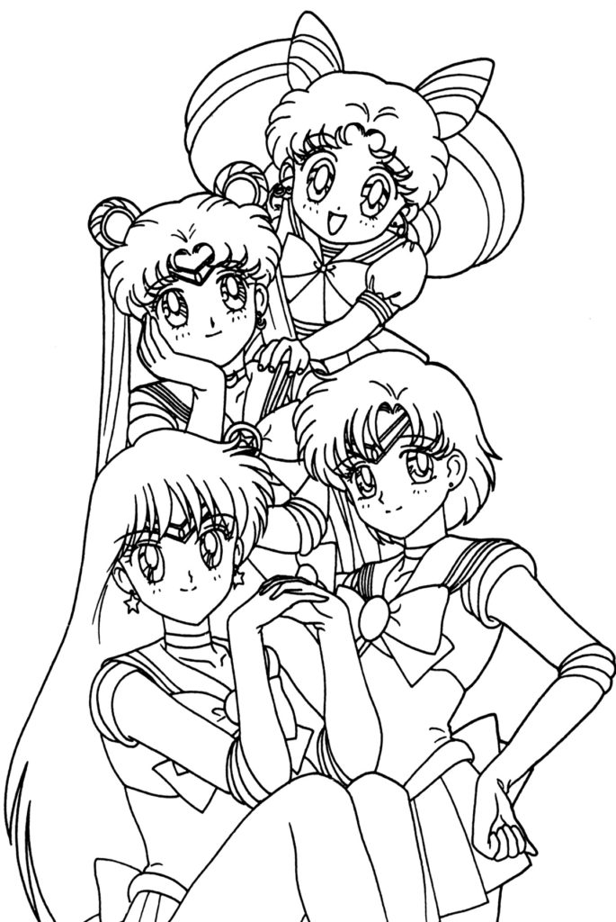 coloring pages anime girls from pretty cure anime coloring pages for kids anime coloring pages
