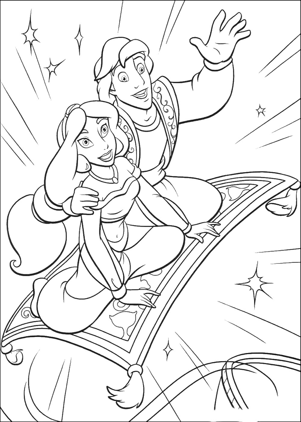 coloring pages disney aladdin aladdin coloring pages 3 disneyclipscom coloring disney pages aladdin