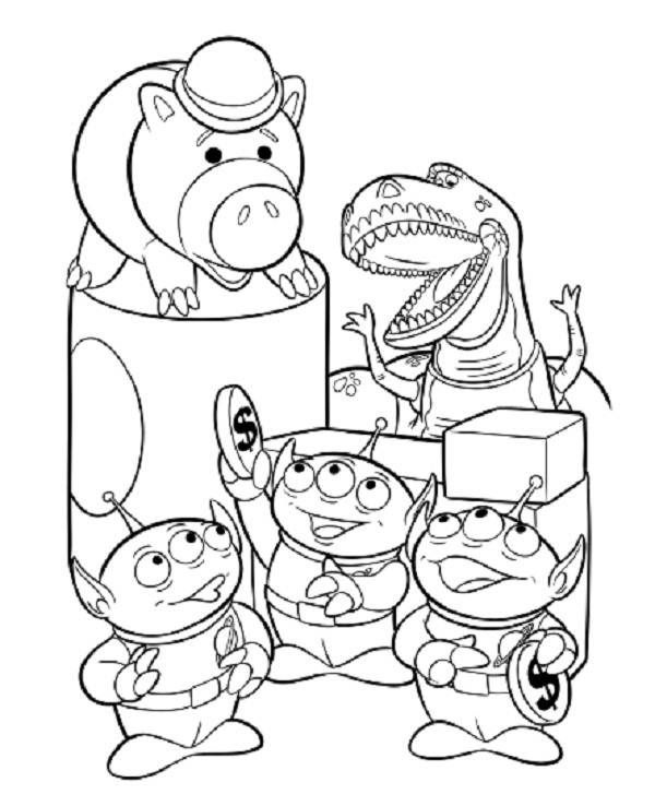 coloring pages disney toy story free printable toy story aliens pdf coloring pages pages story toy disney coloring