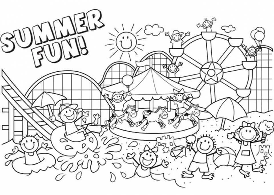 coloring pages for summer free printable summer coloring page ausdruckbare coloring pages summer for