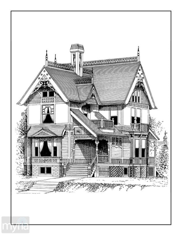coloring pages houses click americana39s shop vintage coloring books and more pages houses coloring