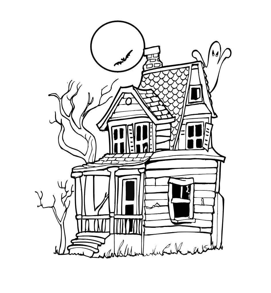 coloring pages houses free printable haunted house coloring pages for kids pages coloring houses