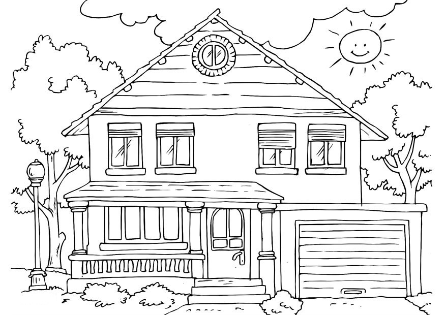 coloring pages houses free printable house coloring pages for kids coloring houses pages 1 1